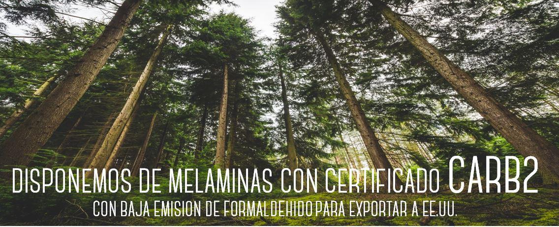 Melaminas con certificado CARB2